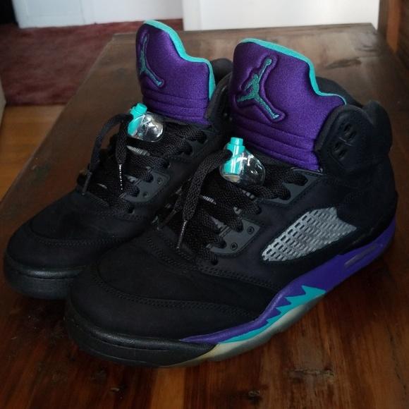 Black Grape Jordan 5s   Poshmark